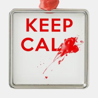 Don't Keep Calm (with gunshot).jpg Metal Ornament