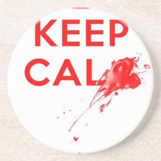 Don't Keep Calm (with gunshot).jpg Sandstone Coaster