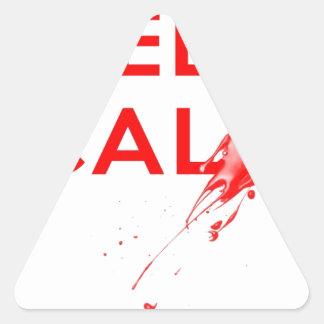 Don't Keep Calm (with gunshot).jpg Triangle Sticker