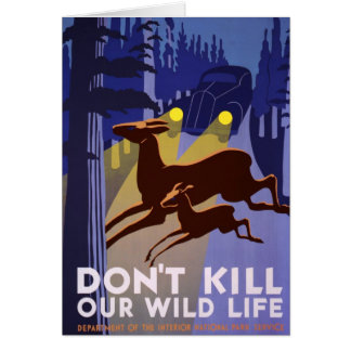 Don't Kill Our Wild Life Card