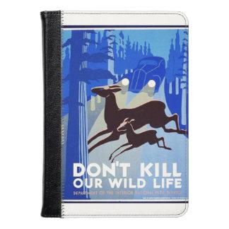 Don't Kill Our Wildlife Vintage WPA FAP Poster