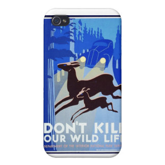 Don't Kill Our Wildlife Vintage WPA FAP Poster iPhone 4 Cover