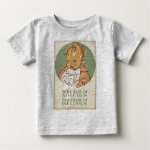 Don't Kiss Me baby shirt