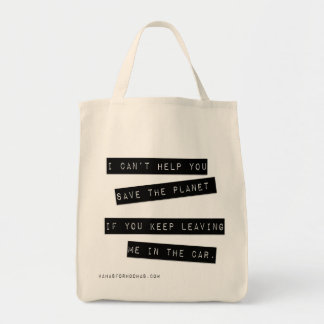 Don't Leave Me! Grocery Tote Tote Bags