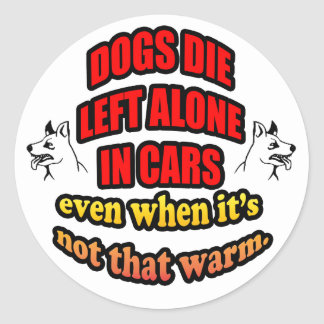 DONT LEAVE YOUR PETS ALONE IN A CAR STICKER