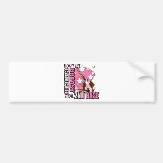 Don't Let Breast Cancer Steal 2nd Base Car Bumper Sticker