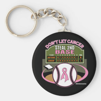 Dont Let Breast Cancer Steal 2nd Base Scoreboard Keychain