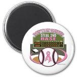 Dont Let Breast Cancer Steal 2nd Base Scoreboard Magnet