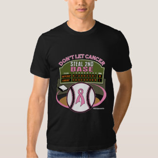 Dont Let Breast Cancer Steal 2nd Base Scoreboard Shirt