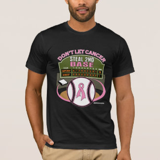 Dont Let Breast Cancer Steal 2nd Base Scoreboard T-Shirt