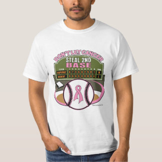 Dont Let Breast Cancer Steal 2nd Base Scoreboard Tee Shirt