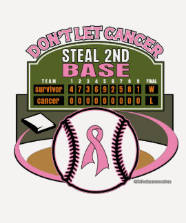 Dont Let Breast Cancer Steal 2nd Base Scoreboard T Shirt