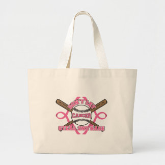 Don't Let Cancer Steal 2nd Base - Breast Cancer Jumbo Tote Bag