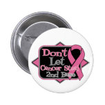 Dont Let Cancer Steal 2nd Base - Breast Cancer Pin