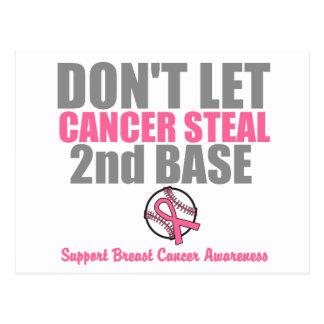 Dont Let Cancer Steal Second 2nd Base Postcard