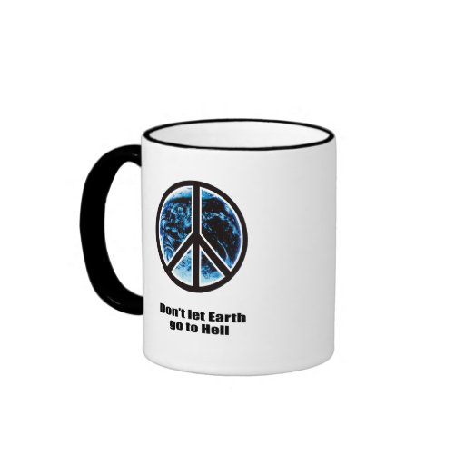 Don't let Earth go to hell Ringer Coffee Mug