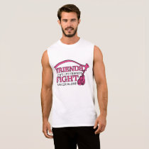 Don't Let Friends Fight Cancer Alone Support Sleeveless Shirt