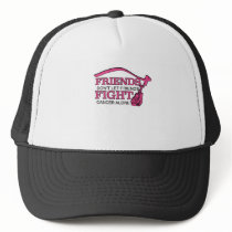 Don't Let Friends Fight Cancer Alone Support Trucker Hat