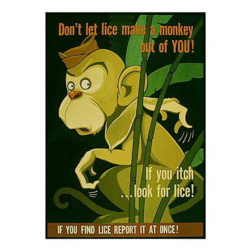 Don't Let Lice Make A Monkey Out Of You! Poster