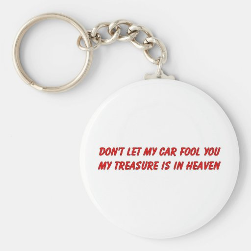 Don't let my car fool you christian gift item basic round button keychain