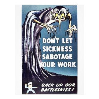 Don't Let Sickness Sabotage Your Work Flyer Design
