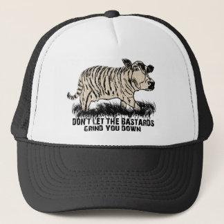 don't let the bastards grind you down trucker hat