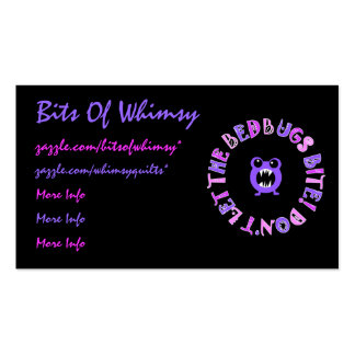 Don't Let The Bedbugs Bite! Double-Sided Standard Business Cards (Pack Of 100)