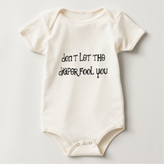 don't let the diaper fool you baby bodysuit