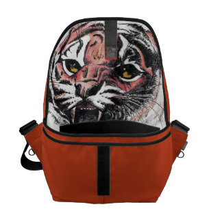 don't let the tiger out of the bag Messenger Bag Courier Bags