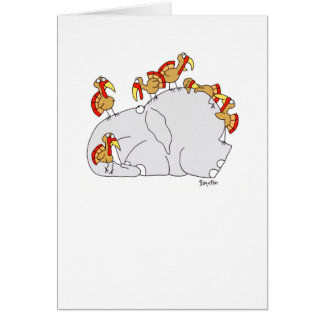 DON'T LET THE TURKEYS GREETING CARD