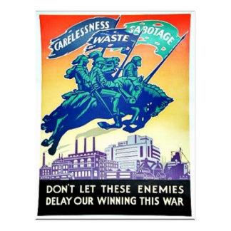 Dont Let These Enemies Postcard
