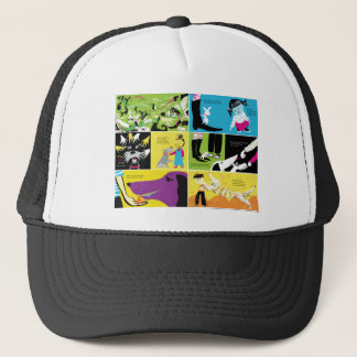 """""""Don't Lick the Dog"""" poster Trucker Hat"""