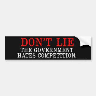 Don't Lie Bumper Sticker Car Bumper Sticker