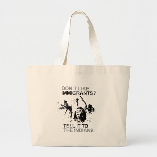 Don't like immigrants, tell it to the indians Fade Canvas Bags