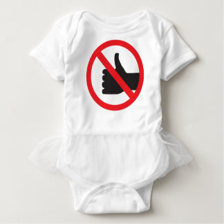 don't like sign baby bodysuit