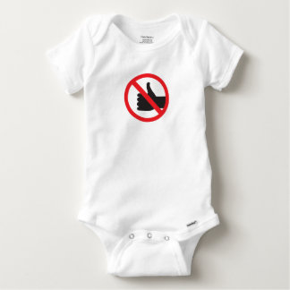 don't like sign baby onesie