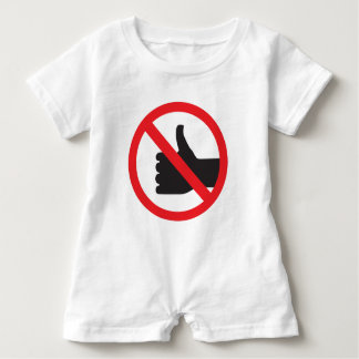 don't like sign baby romper
