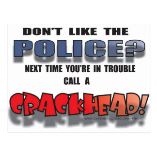 DONT LIKE THE POLICE POSTCARD