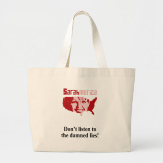 Don't listen to the damned lies tote bags