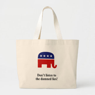 Don't listen to the damned lies tote bag