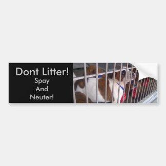 Dont Litter Bumper Sticker