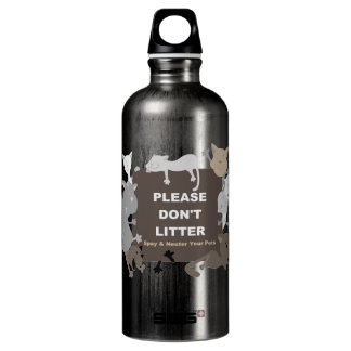 Don't Litter (Spay & Neuter) Aluminum Water Bottle