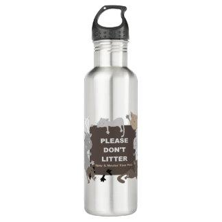 Don't Litter (Spay & Neuter) Stainless Steel Water Bottle
