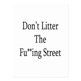 Dont Litter The Fuing Street Postcard