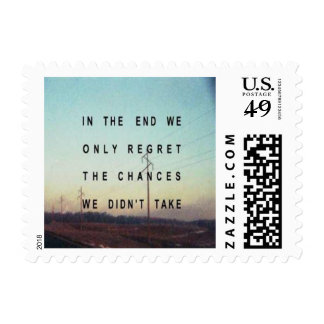 Don't Live With Regrets Postage