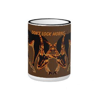 """""""DON'T LOCK HORNS""""  Gazelle Art Mug"""