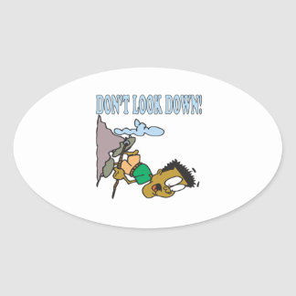 Dont Look Down 2 Oval Sticker