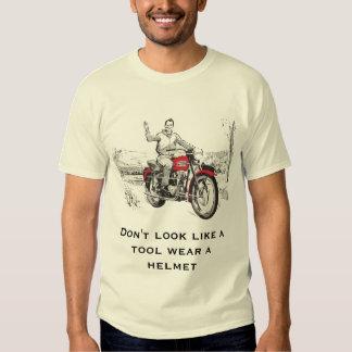 Don't look like a tool wear a helmet t-shirt