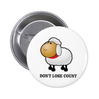 dont lose count sheep pinback button