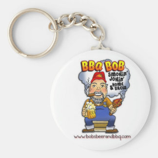 Don't lose your keys! BBQ Bob is here! Basic Round Button Keychain